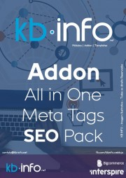 Addon e Gestor All in One Meta Tags Pack Sistema de SEO Indexing Interspire BigCommerce